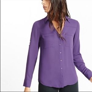 💜 Express The Portofino Shirt Button Up Blouse 💜